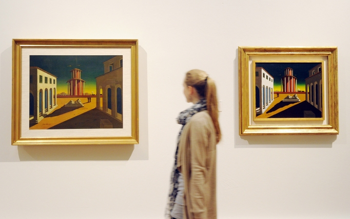 A Visitor Looks at the Painting