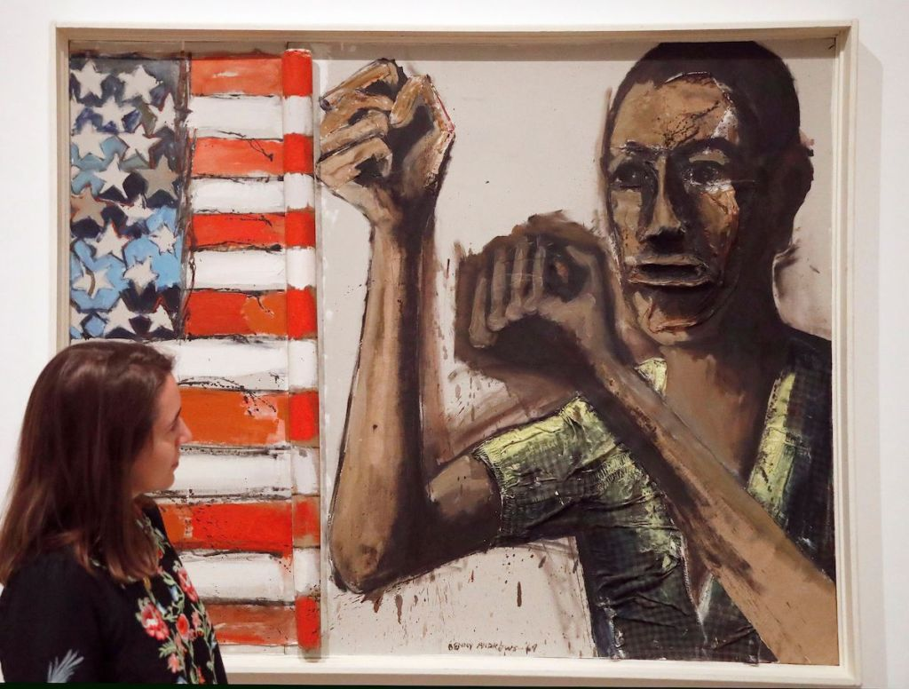 Work by Benny Andrews in 'Soul of a Nation: Art in the Age of Black Power' at Tate Modern, London.