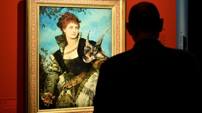 'The Falconer' by Hans Makart, on
