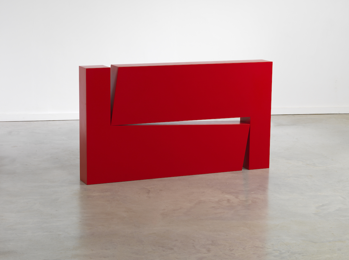 Carmen Herrera, 'Estructura Roja,' 1966/2012, plywood and automobile paint