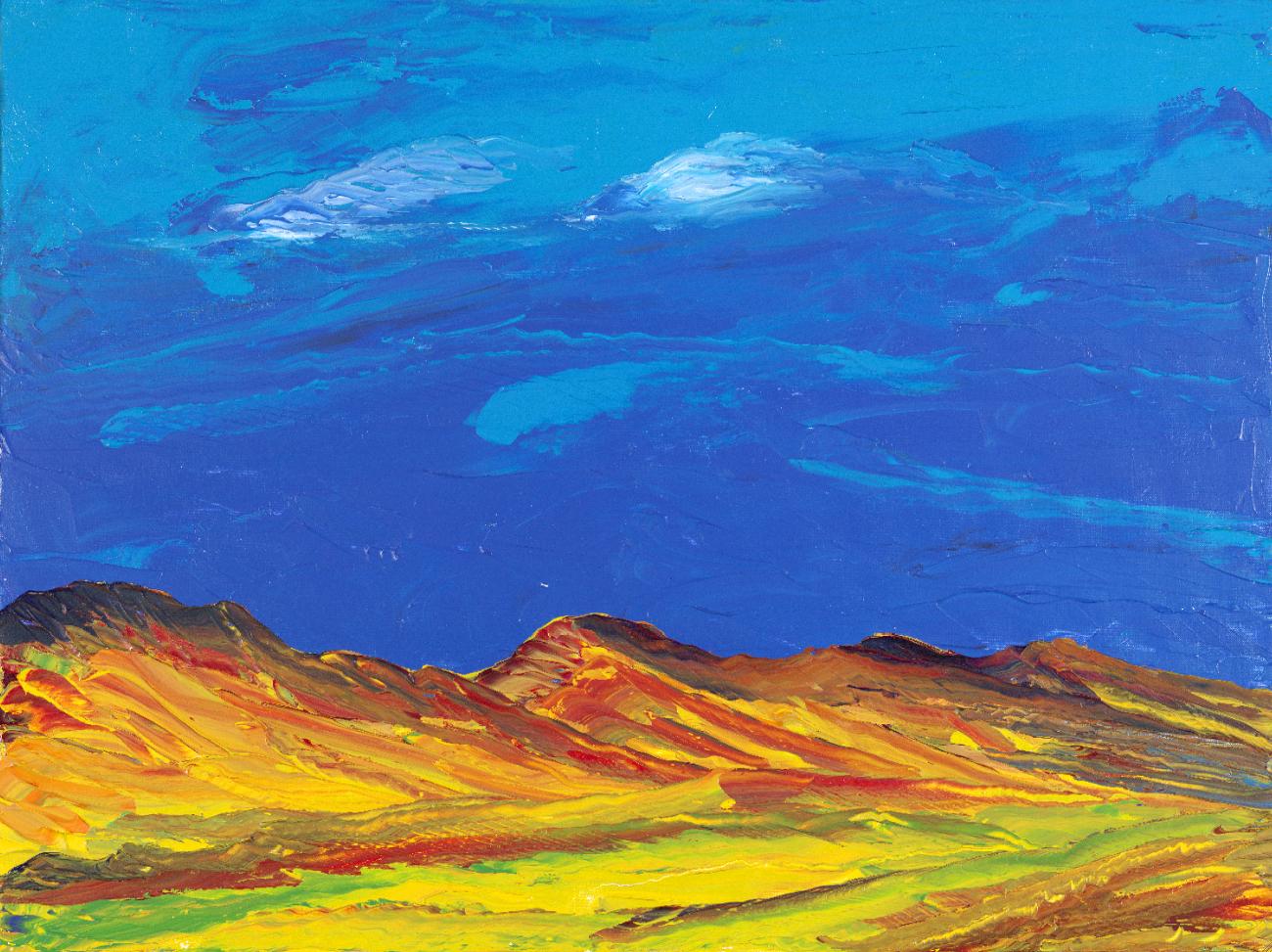 Anthony Hopkins painting, titled Malibu.