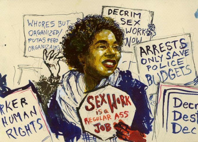 Molly Crabapple, 'A protester at the