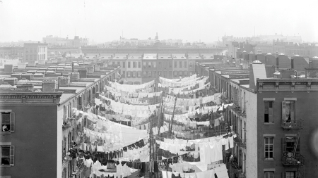 A tenement yard on Park Avenue