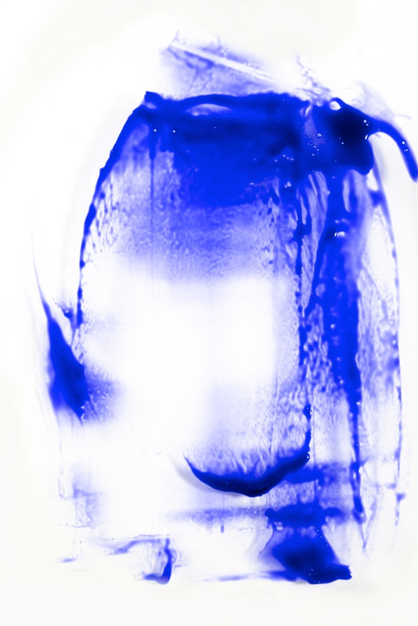 Blue on white paint stroke texture,