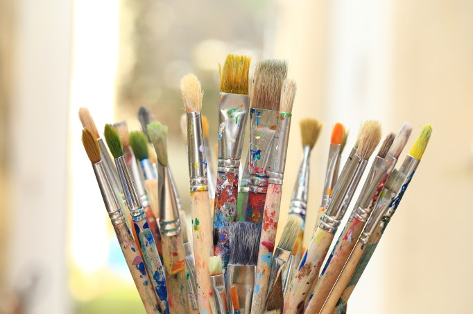 Paints And Paint Brushes