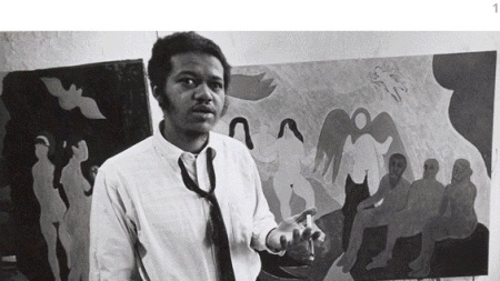 Bob Thompson in his studio on