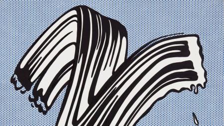 Roy Lichtenstein, 'White Brushstroke I', 1965.