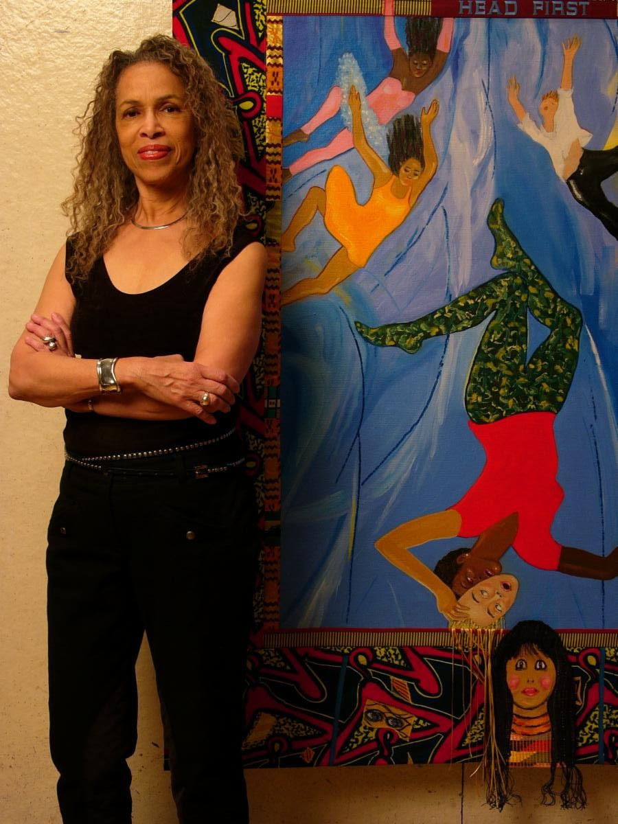 Emma Amos, Imaginative Painter Who Attacked Racism Through Figuration, Is Dead at 83