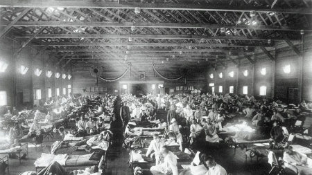 Spanish flu, Camp Funston, Kansas