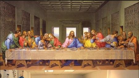 Leonardo da Vinci Last Supper tableau