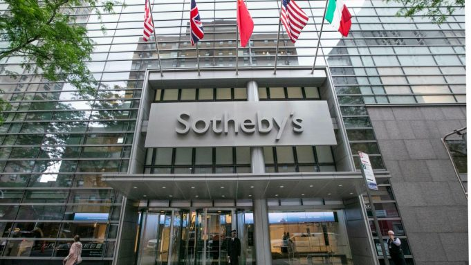 Exterior of Sotheby's in New York.