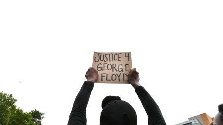 Peaceful Black Lives Matter demonstrators in