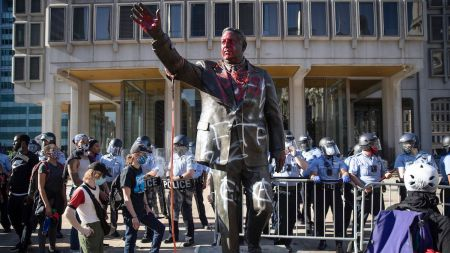 A since-removed monument to Frank Rizzo