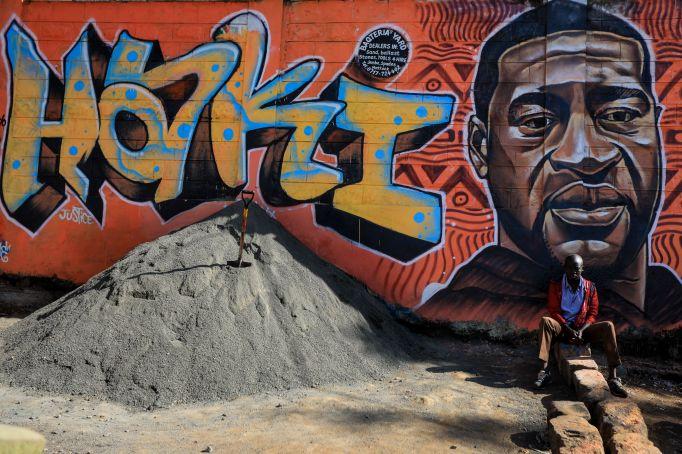 A mural in Kenya in memory
