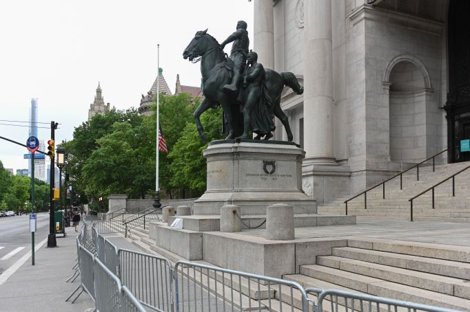 The statue of Theodore Roosevelt in