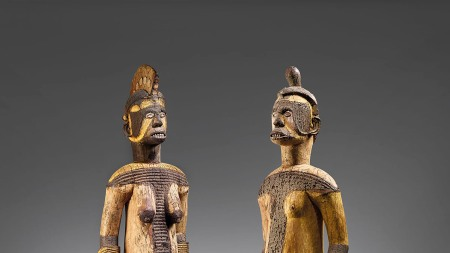 A pair of Igbo sculptures, attributed