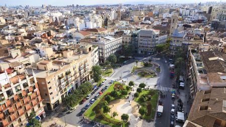 Plaza de la Reina in Valencia,