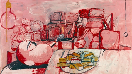 Philip Guston, Painting, Smoking, Eating, 1973.