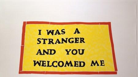 Andrea Bowers, 'Church Banners (Adalberto United