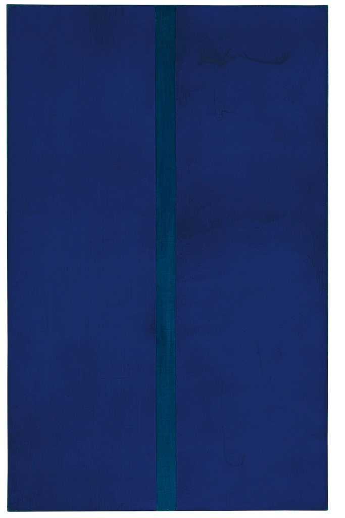 Барнетт Ньюман. Onement V, 1948. Продано в 2020 г на аукционе Christie's в 2015 г за USD 30,900,000