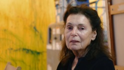 Pat Steir in her studio.