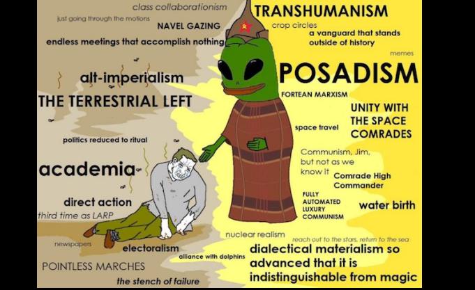 Posadist meme featuring an alien