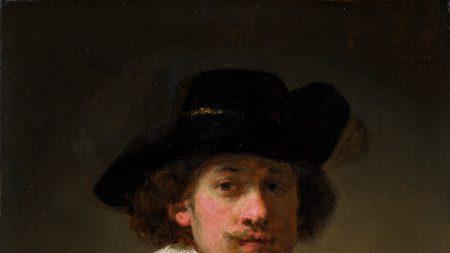 Rembrandt van Rijn, 'Self-portrait wearing a