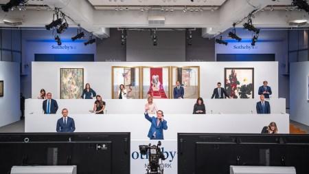 Sotheby's specialists bid in hybrid sale