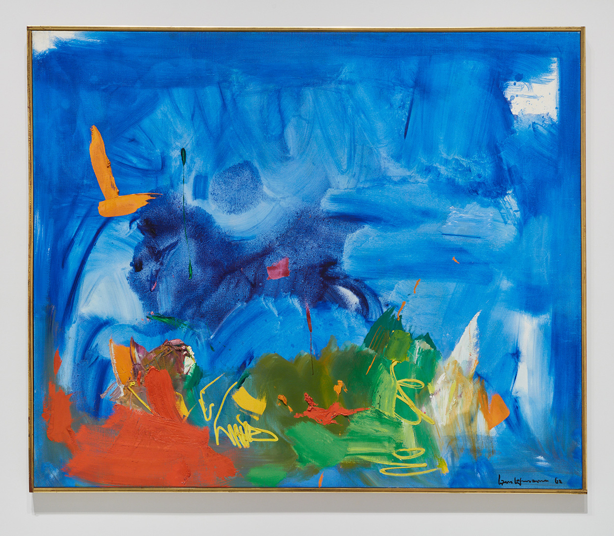 white and blue We Can Do it for our Rights  Expressionist Painting in Red