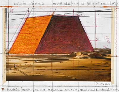 Christo: The Mastaba (Project for Abu Dhabi, Al Gharbia, near Oasis of Liwa), 2012,
