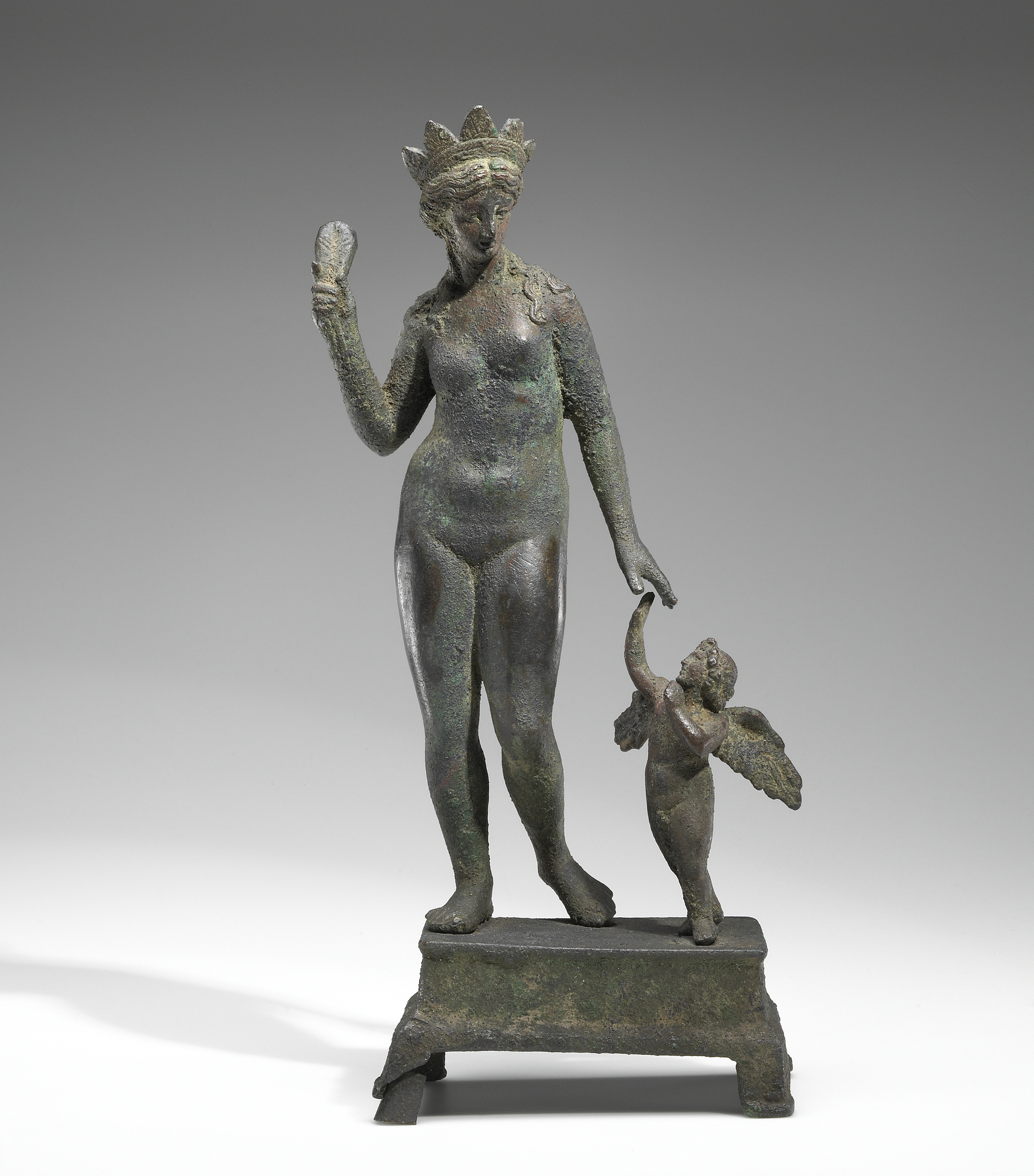 Unknown, Venus Chastising Cupid, 100–1 B.C.E., Roman, bronze.