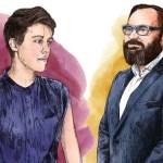 Illustrations of Caroline Woolard and Gonzalo