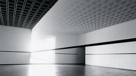 Robert Irwin, 'Scrim veil—Black rectangle—Natural light,