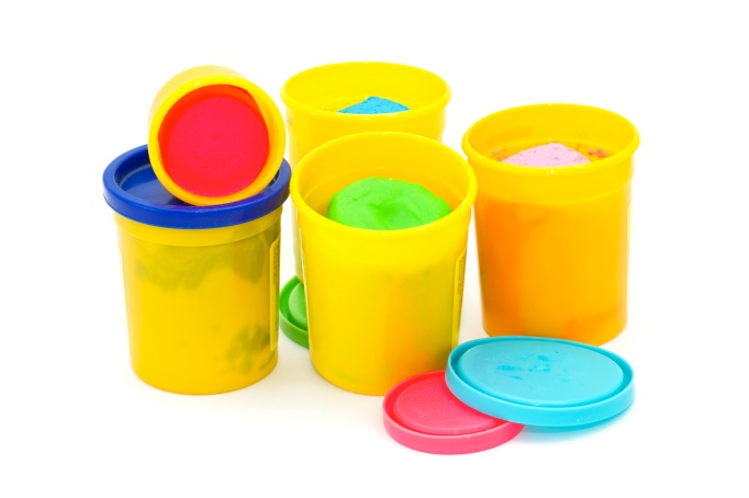 Colourful molding dough for children