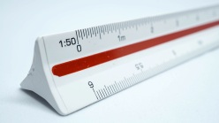 Close up scale ruler