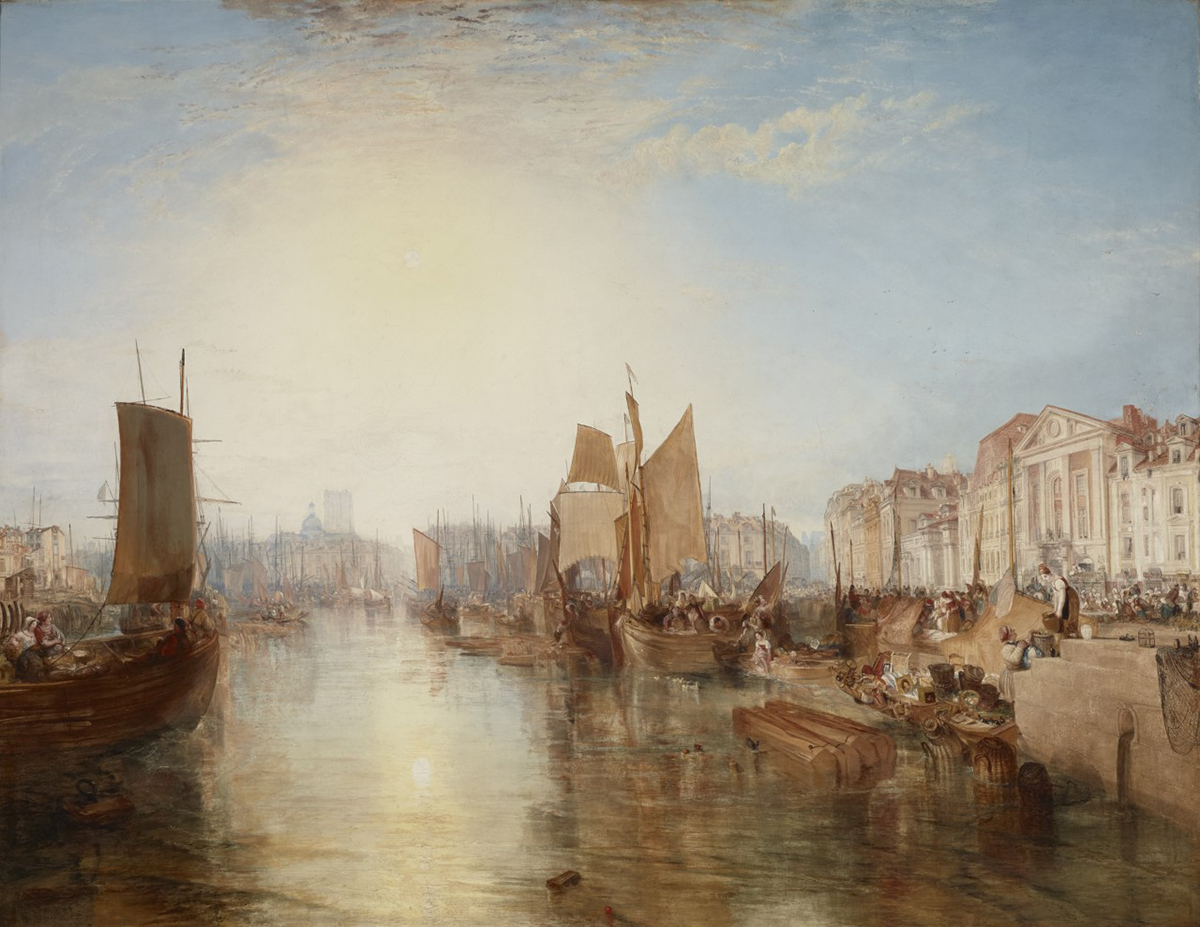 Joseph Mallord William Turner, Harbor of Dieppe: Changement de Domicile, 1826.