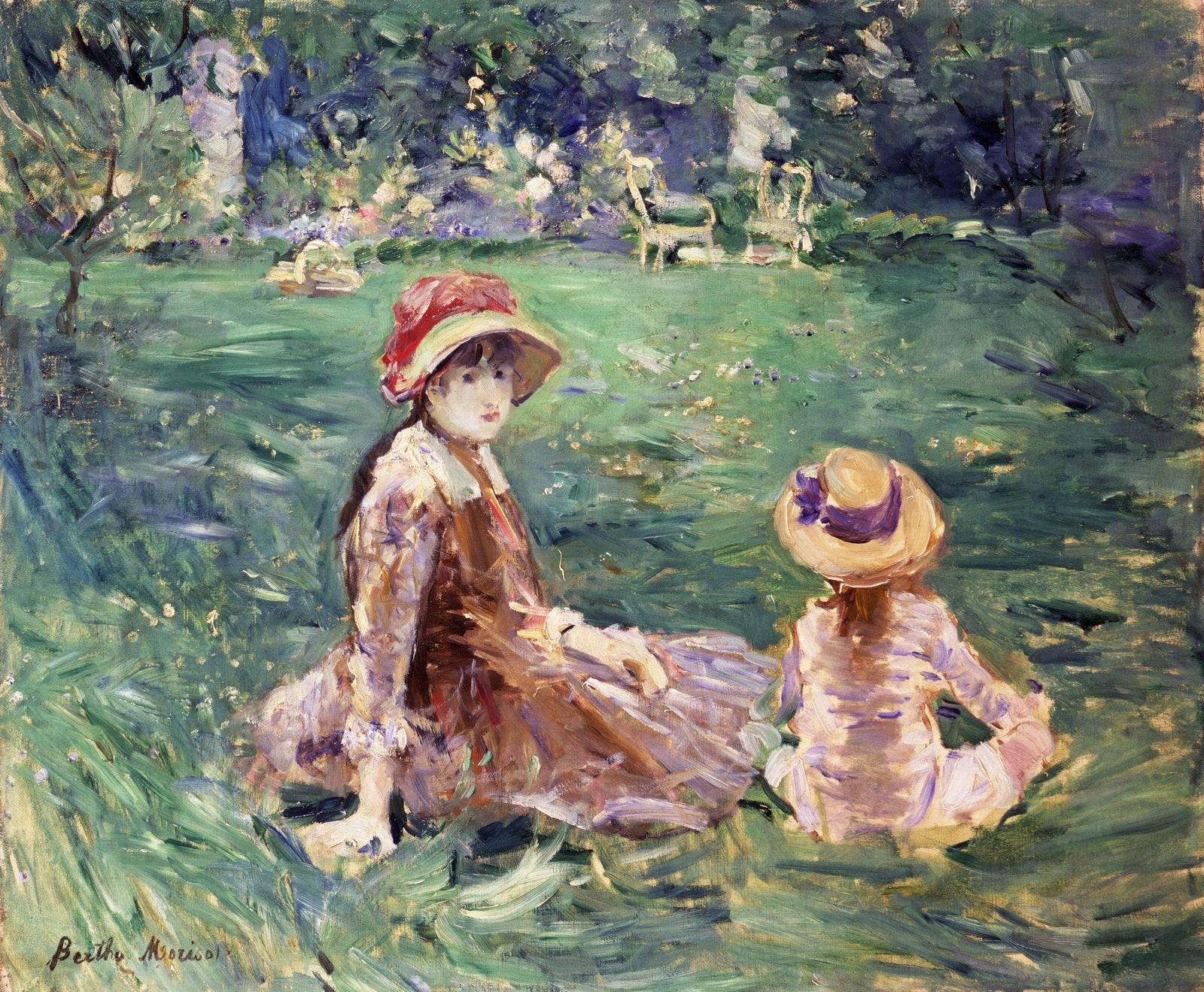Berthe Morisot,The Garden at Maurecourt, ca. 1884