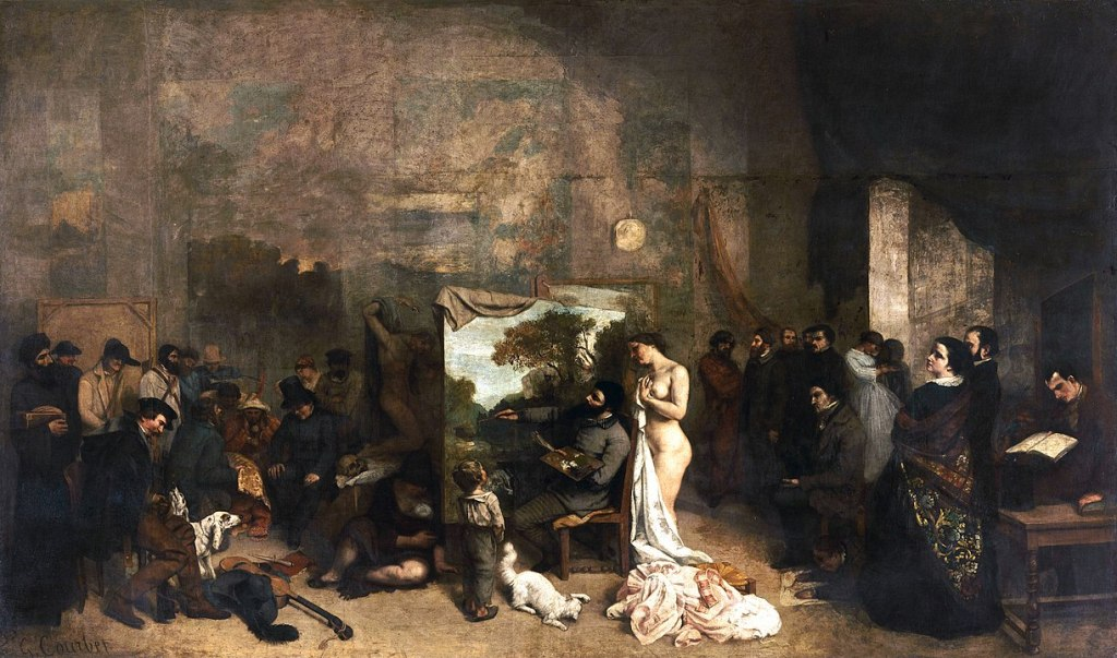 Gustave Courbet, 'The Painter's Studio: A Real Allegory Summing Up a Seven-Year Phase of My Artistic Life', 1855.