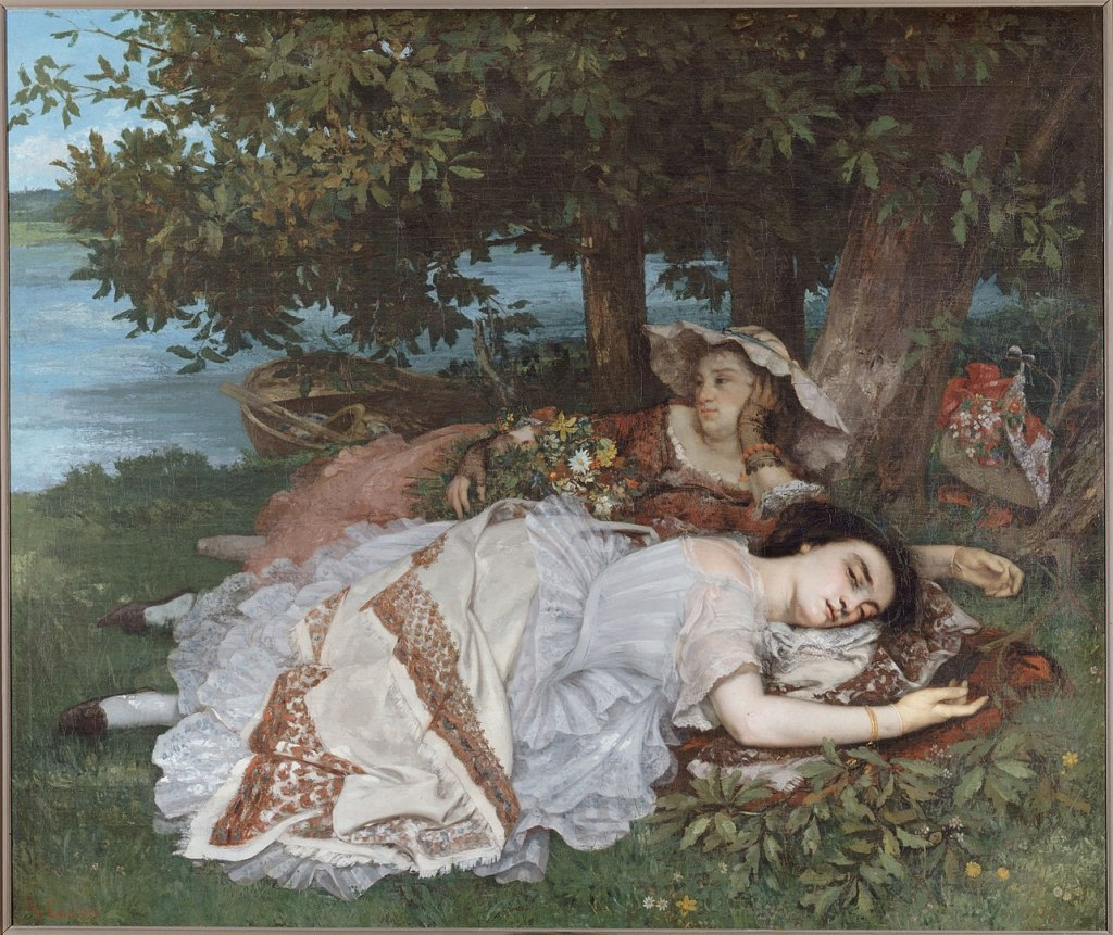 Gustave Courbet, 'Young Ladies on the Banks of the Seine', 1856–57.