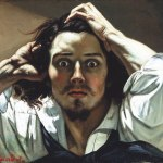 Gustave Courbet, 'Self-Portrait (The Desperate Man)', ca. 1843–46.