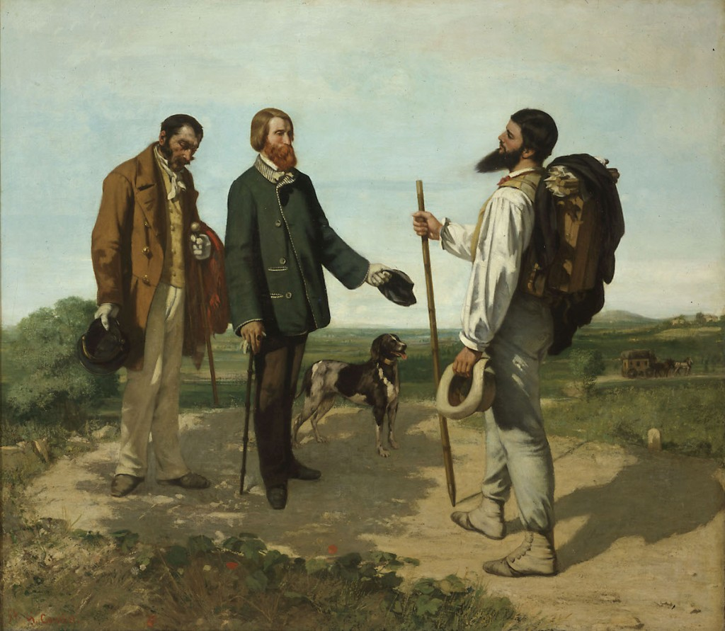 Gustave Courbet, 'The Meeting', 1854.