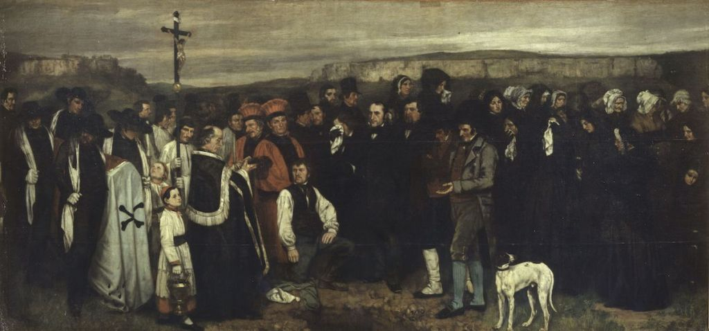 Gustave Courbet, 'A Burial at Ornans', 1849–50.