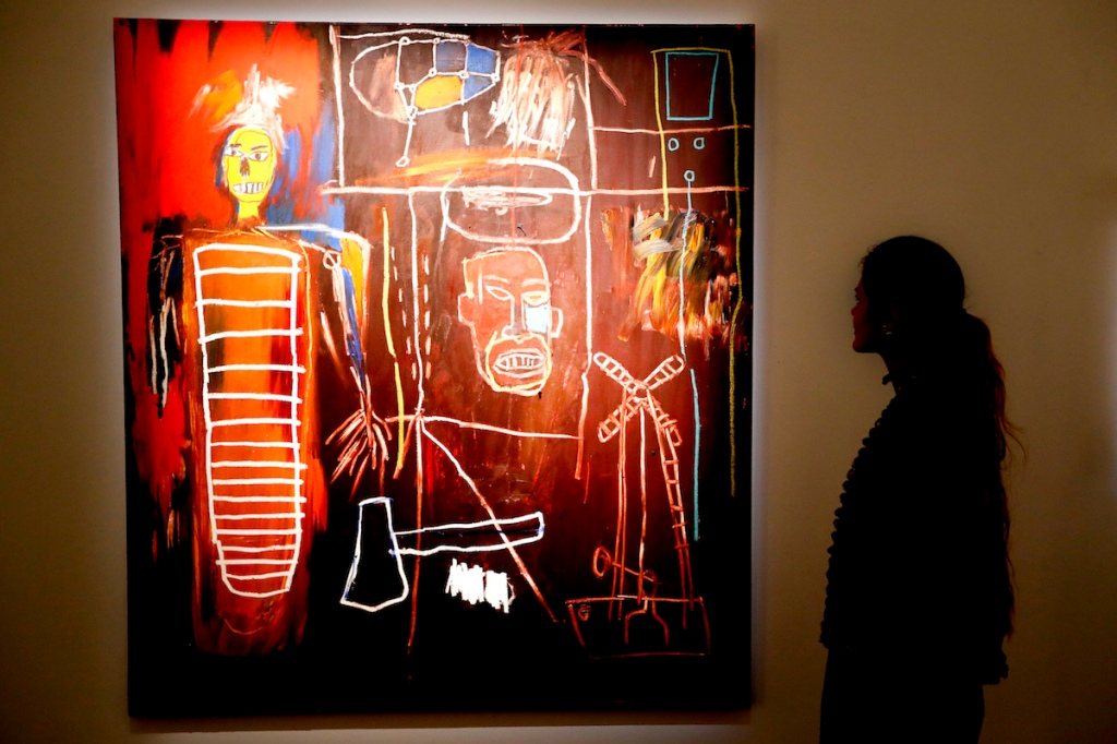 Jean-Michel Basquiat's 'Air Power' (1984) at Sotheby's in London in 2016