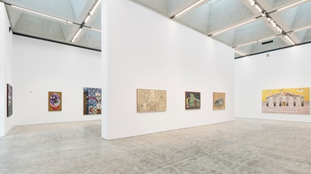 Installation view of William N. Copley: