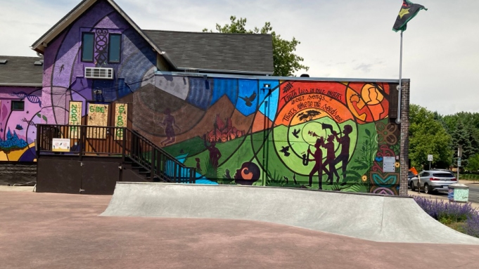 View of Juxtaposition Arts, Minneapolis, 2020.