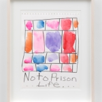 Stanley Whitney Untitled (No to Prison Life), 2018, gouache and graphite paper.