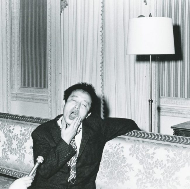 Nam June Paik with his mouth