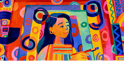 A Google Doodle in honor of artist Pacita Abad.