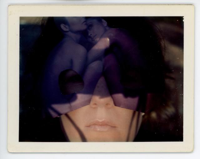 Brigid Berlin, Untitled (Self-Portrait Double Exposure with Nudes), ca. 1971-1973, Polaroid.