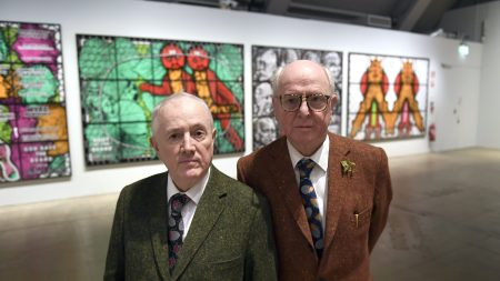 British artist duo Gilbert and George